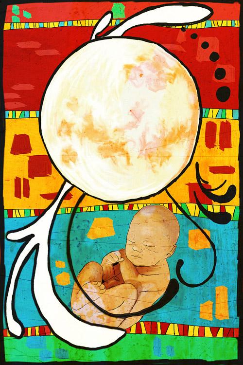 PAINTING - Moonchild
