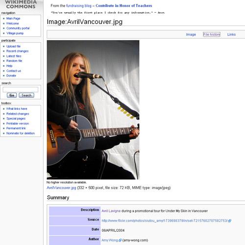 Wikimedia - Avril Lavigne
